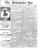 Newmarket Era (Newmarket, ON1861), November 13, 1903