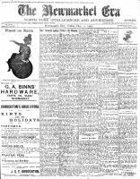 Newmarket Era (Newmarket, ON1861), December 11, 1903