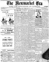Newmarket Era (Newmarket, ON1861), January 29, 1904