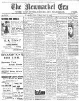 Newmarket Era (Newmarket, ON1861), August 18, 1905