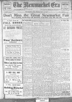 Newmarket Era (Newmarket, ON), September 13, 1912