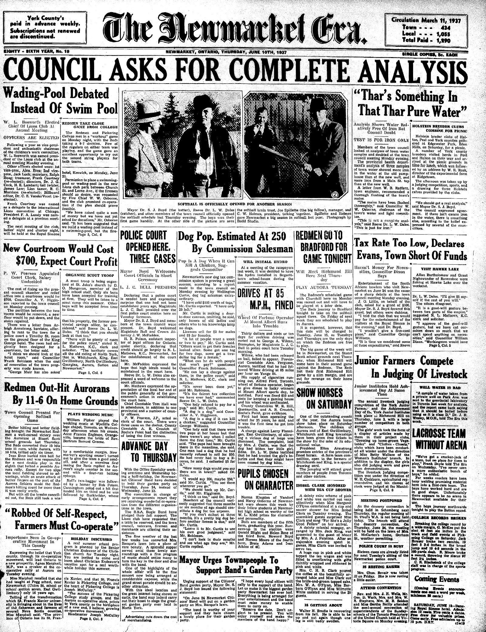 Newmarket Era (Newmarket, ON1861), 10 Jun 1937