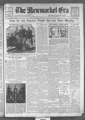 Newmarket Era (Newmarket, ON1861), 3 Jan 1930