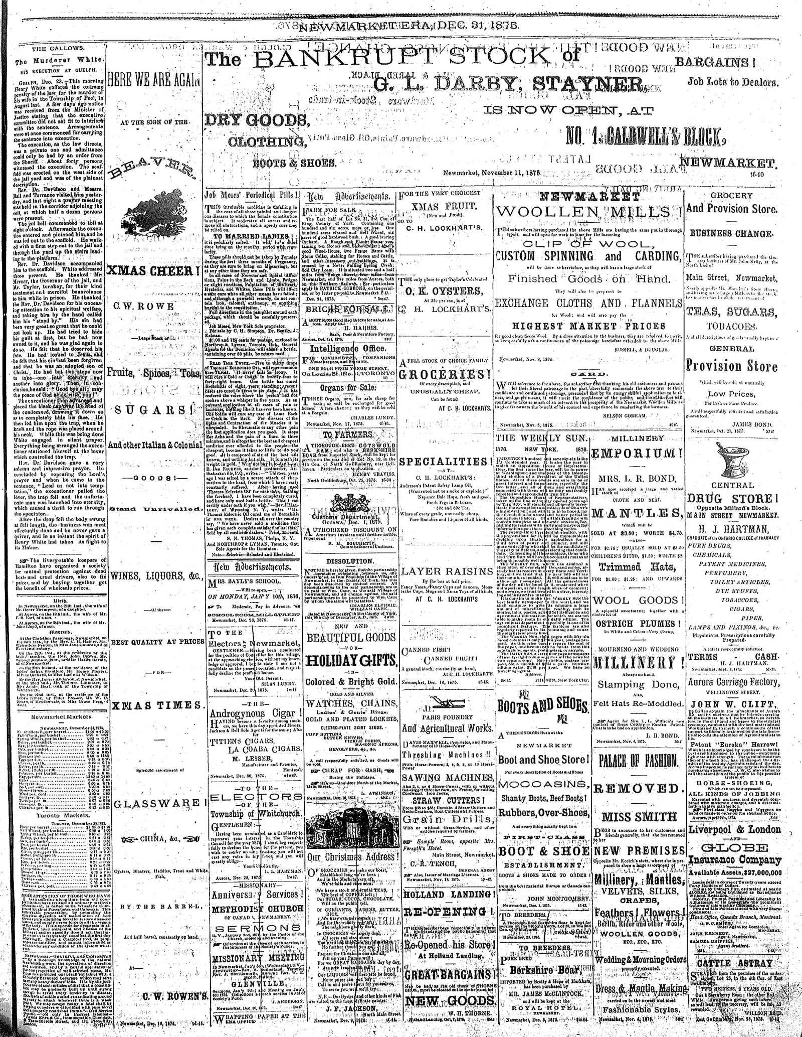 Newmarket Era (Newmarket, ON1861), December 31, 1875