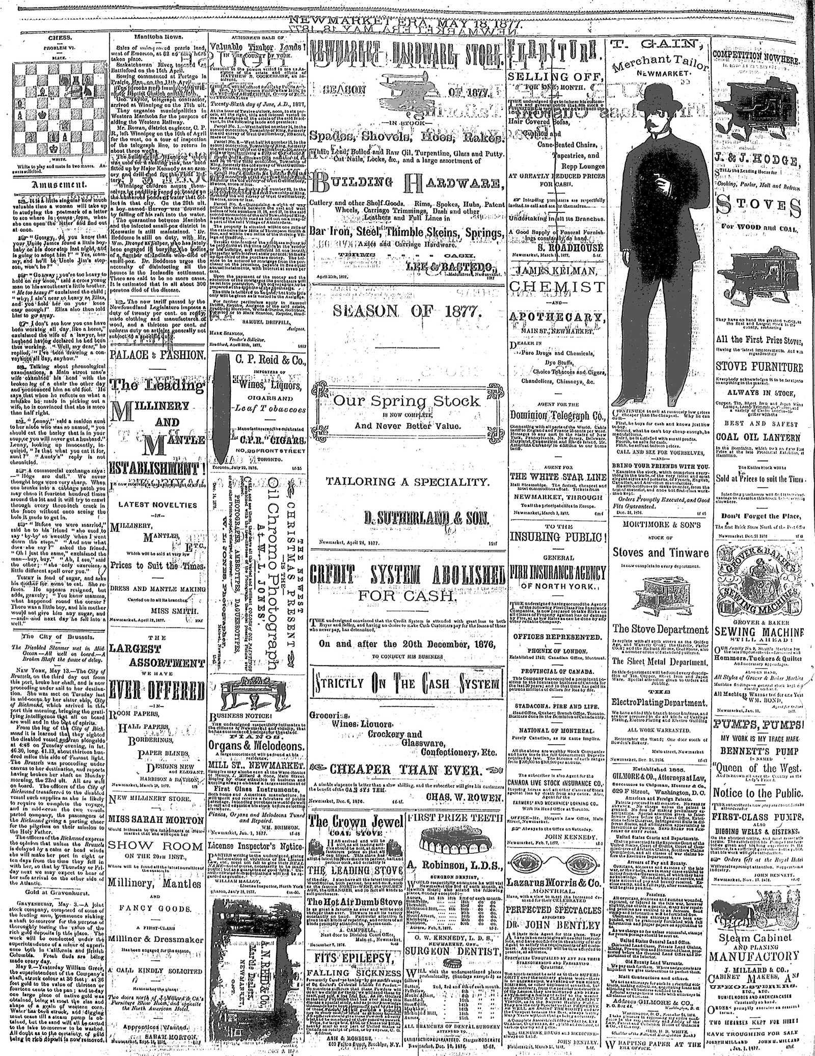 Newmarket Era (Newmarket, ON1861), May 18, 1877