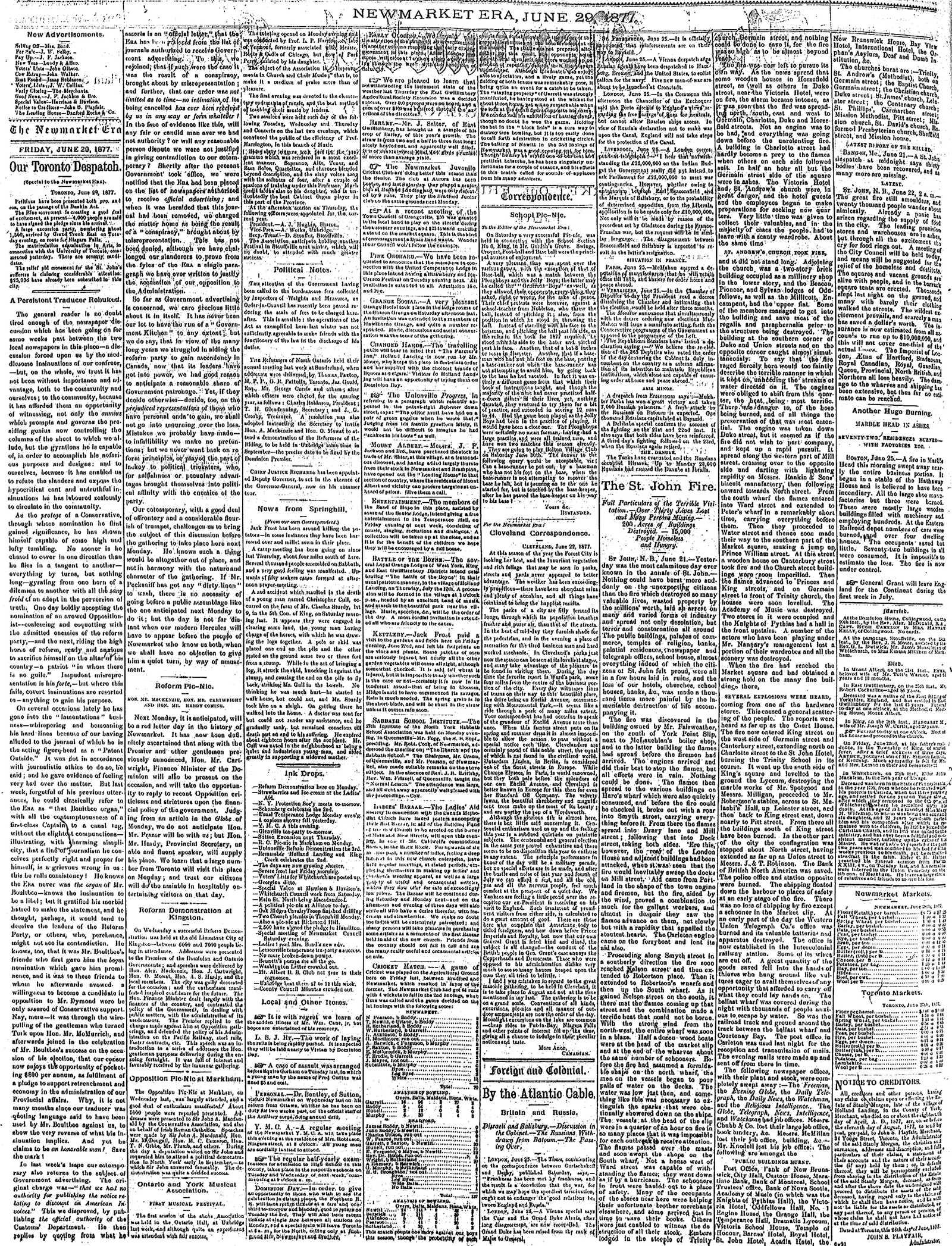 Newmarket Era (Newmarket, ON1861), June 29, 1877