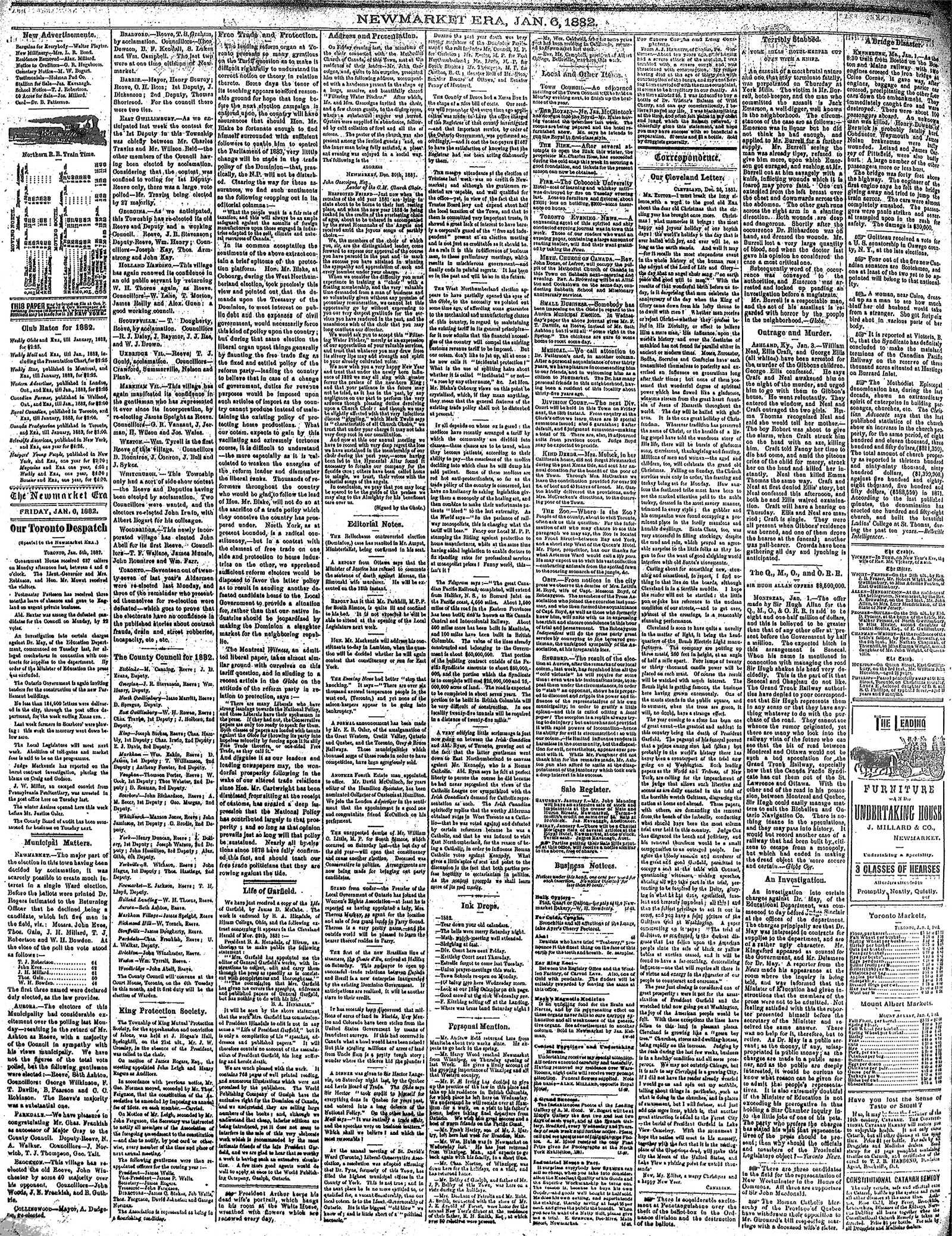 Newmarket Era (Newmarket, ON1861), January 6, 1882