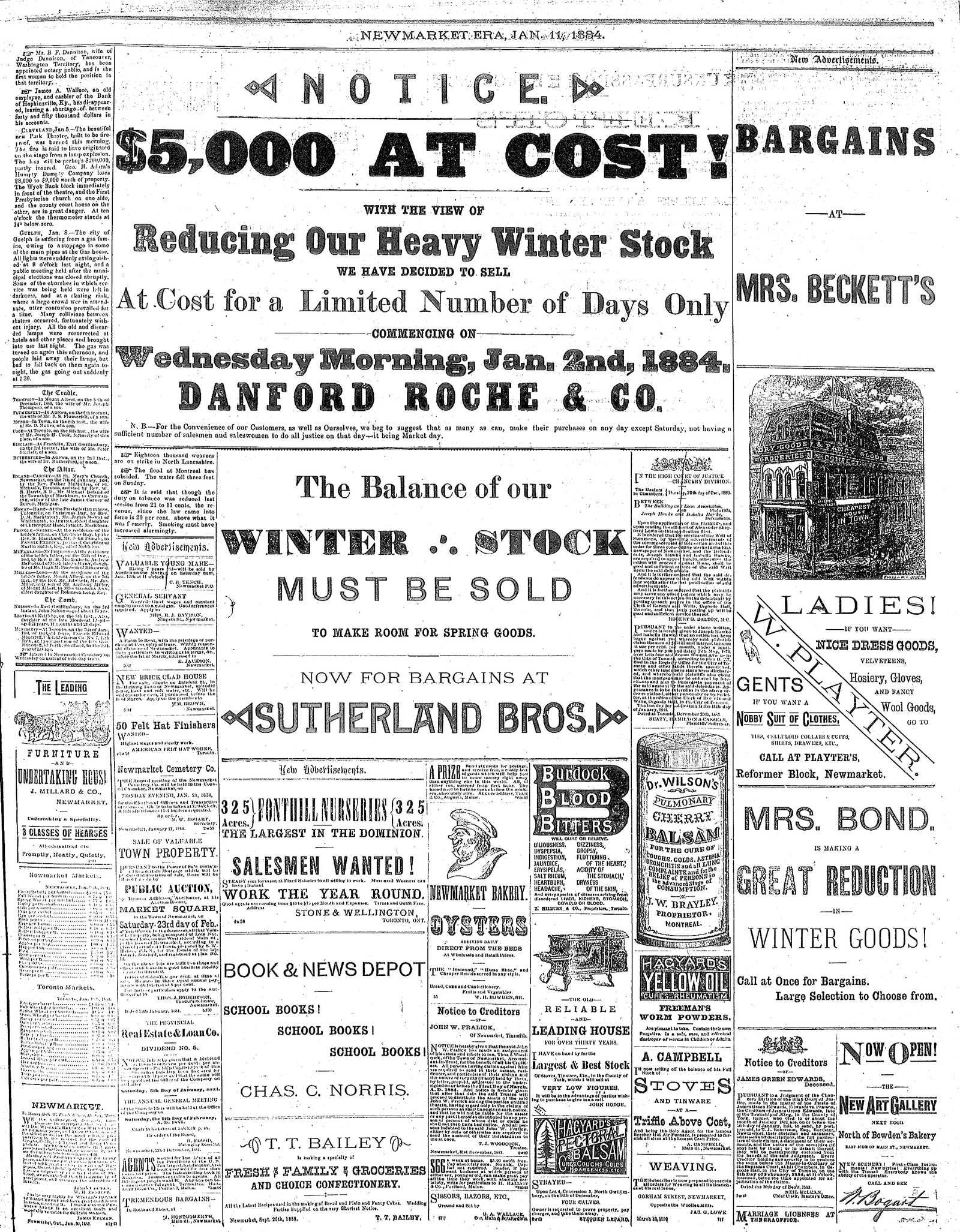 Newmarket Era (Newmarket, ON1861), January 11, 1884