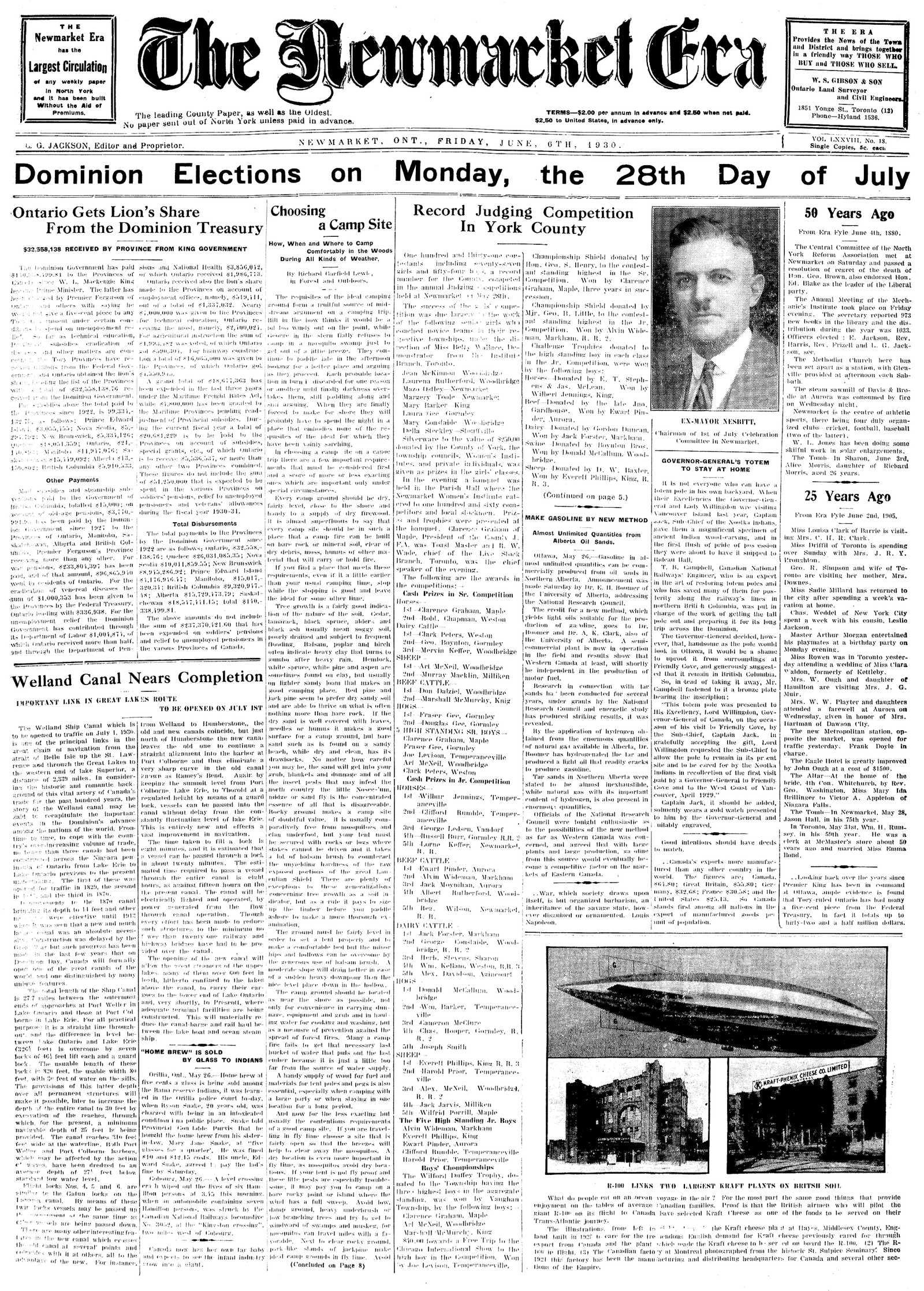 Newmarket Era (Newmarket, ON1861), June 6, 1930