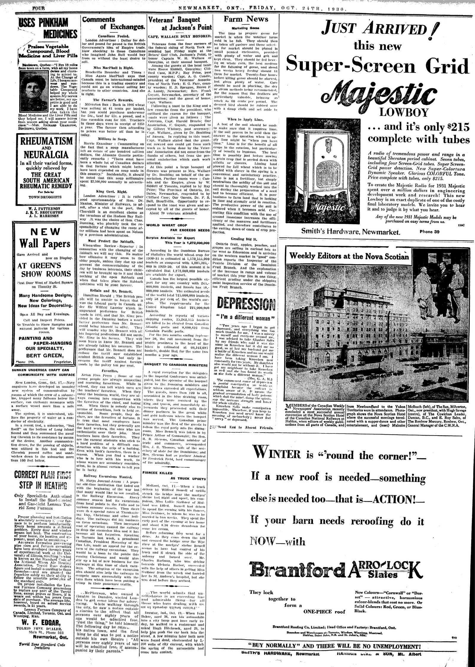 Newmarket Era (Newmarket, ON1861), October 24, 1930