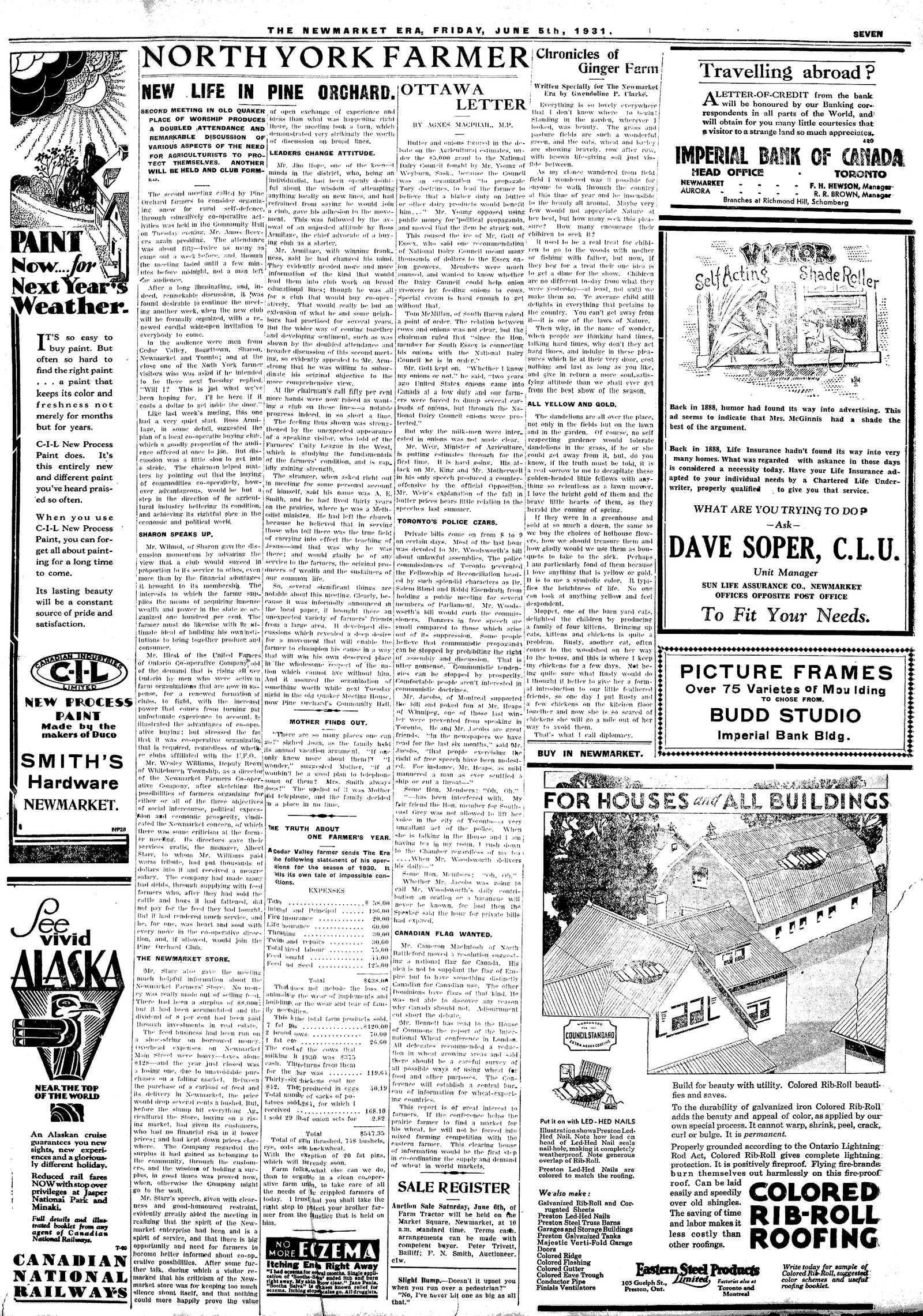 Newmarket Era (Newmarket, ON1861), June 5, 1931