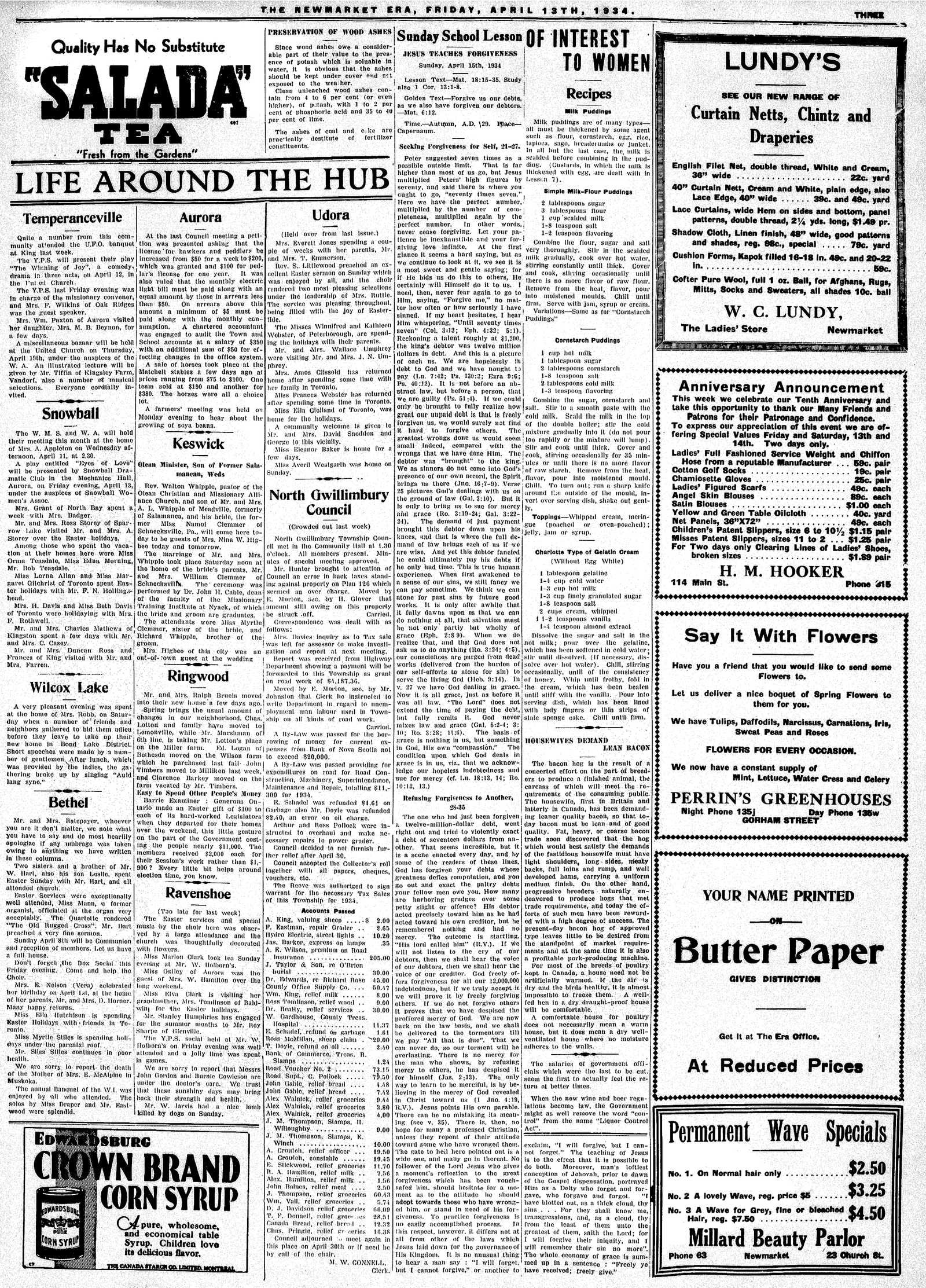 Newmarket Era (Newmarket, ON1861), April 13, 1934