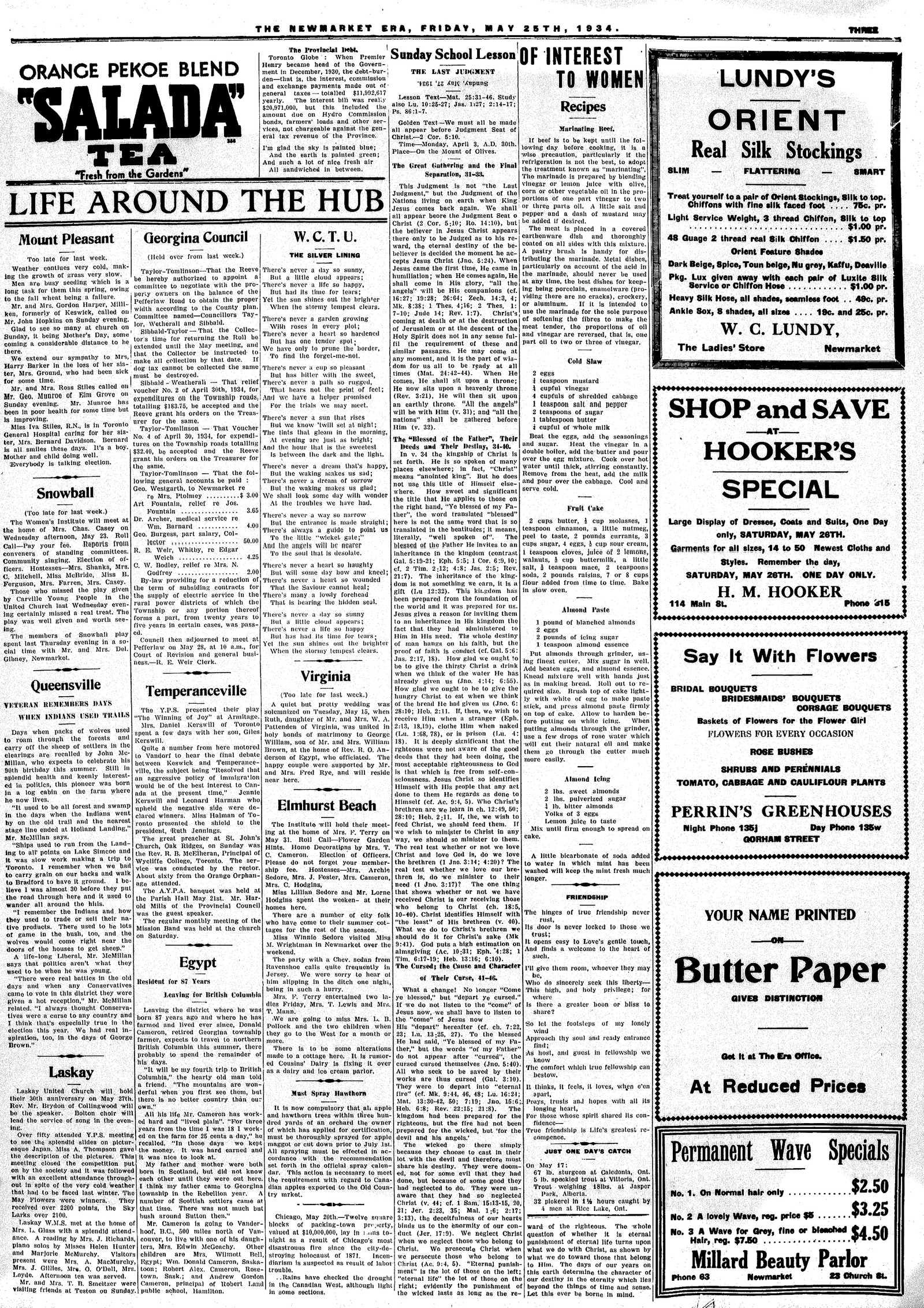 Newmarket Era (Newmarket, ON1861), May 25, 1934