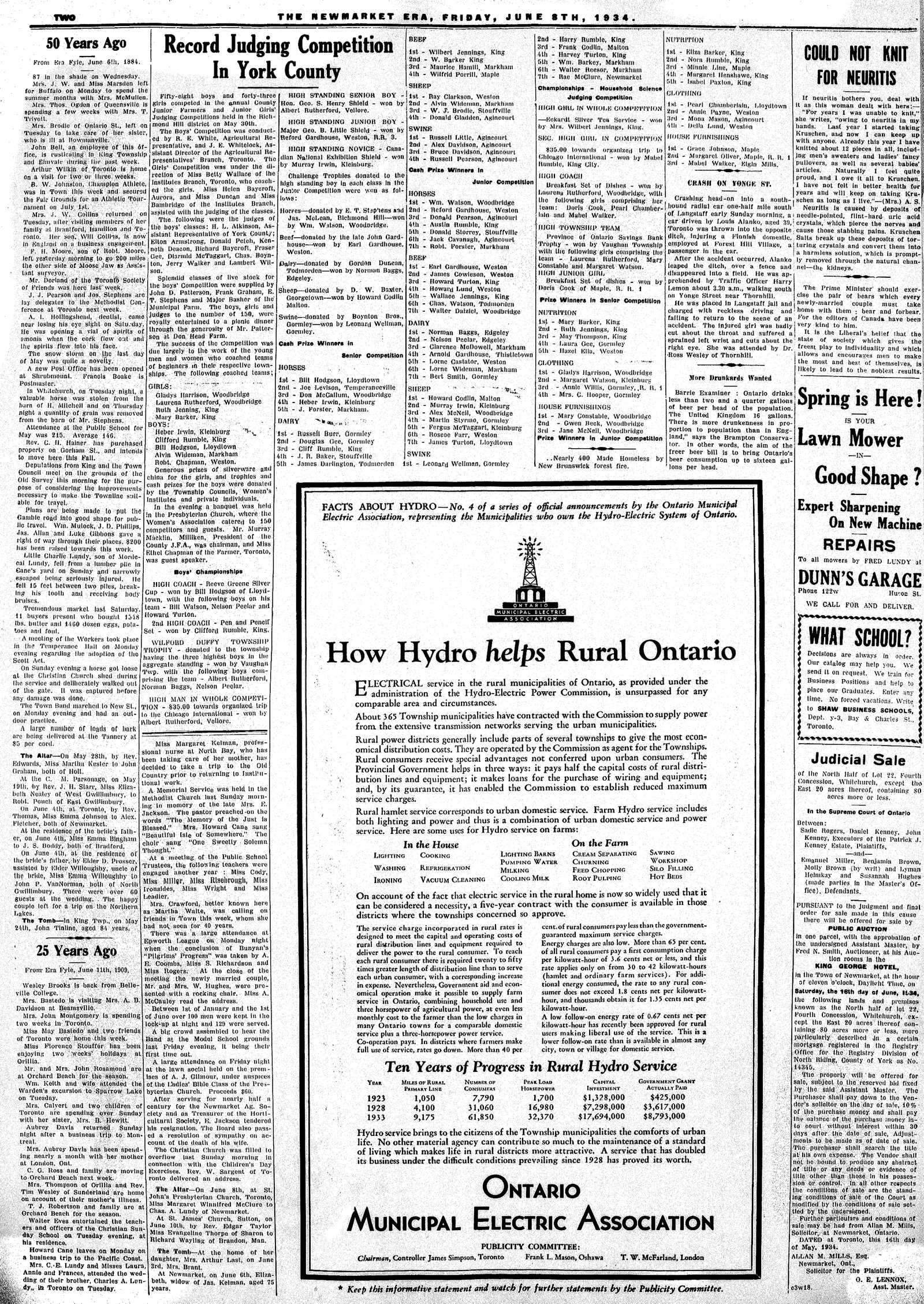 Newmarket Era (Newmarket, ON1861), June 8, 1934