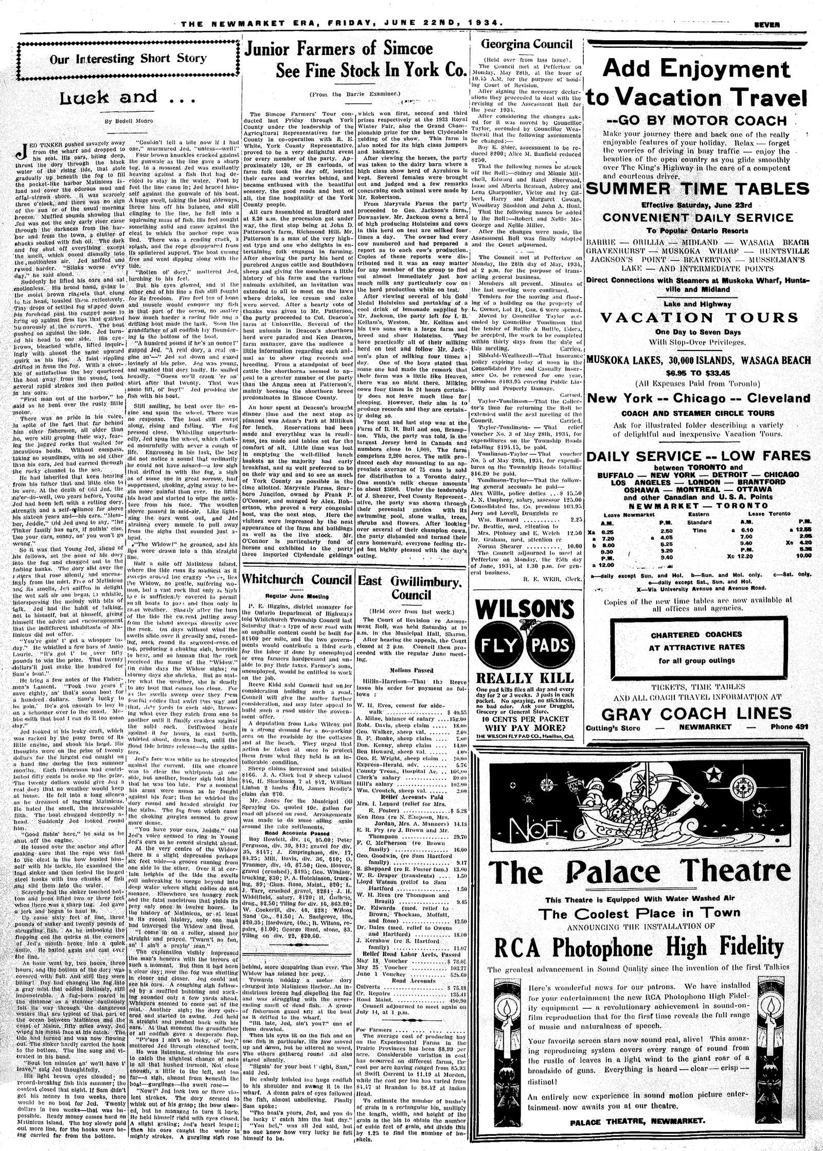 Newmarket Era (Newmarket, ON1861), June 22, 1934