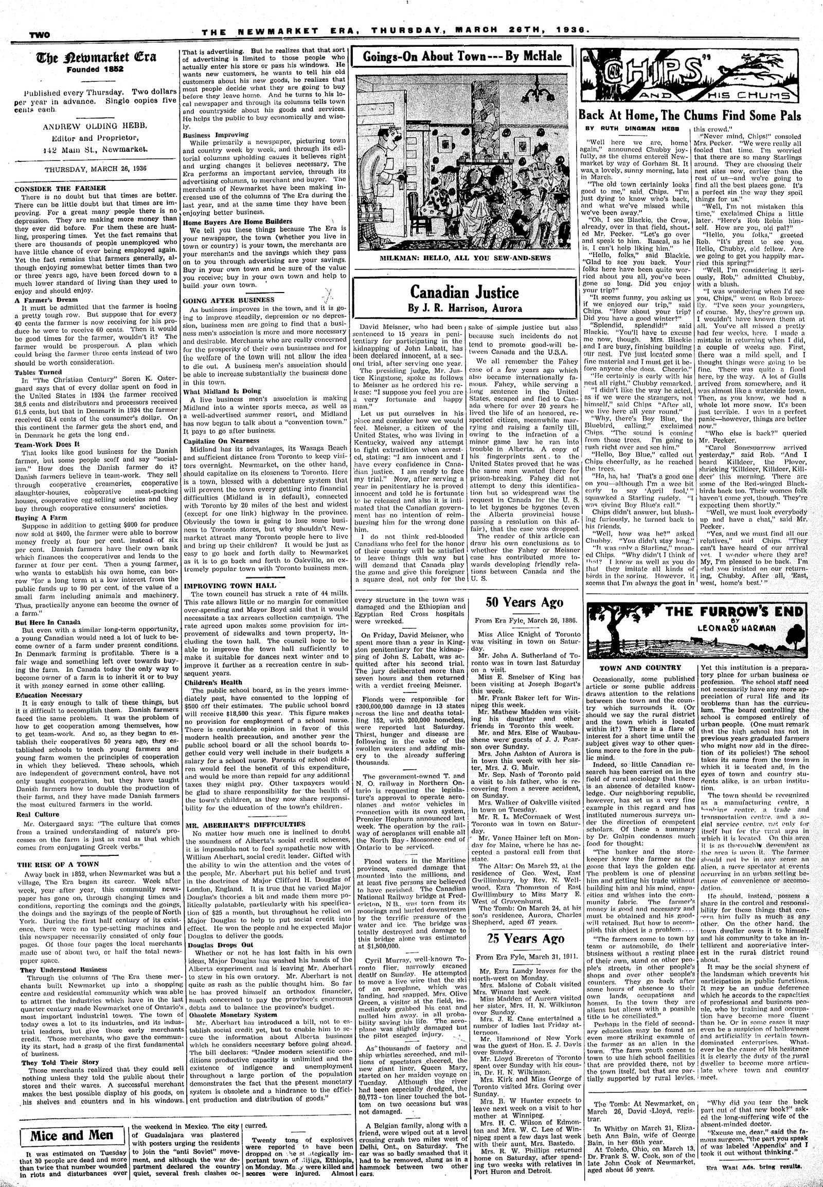 Newmarket Era (Newmarket, ON1861), March 26, 1936