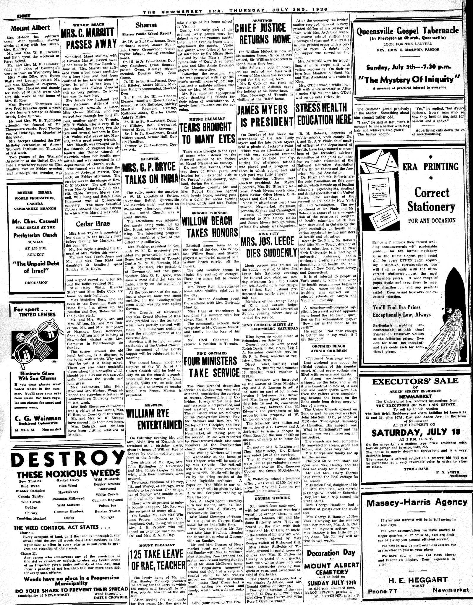 Newmarket Era (Newmarket, ON1861), July 2, 1936