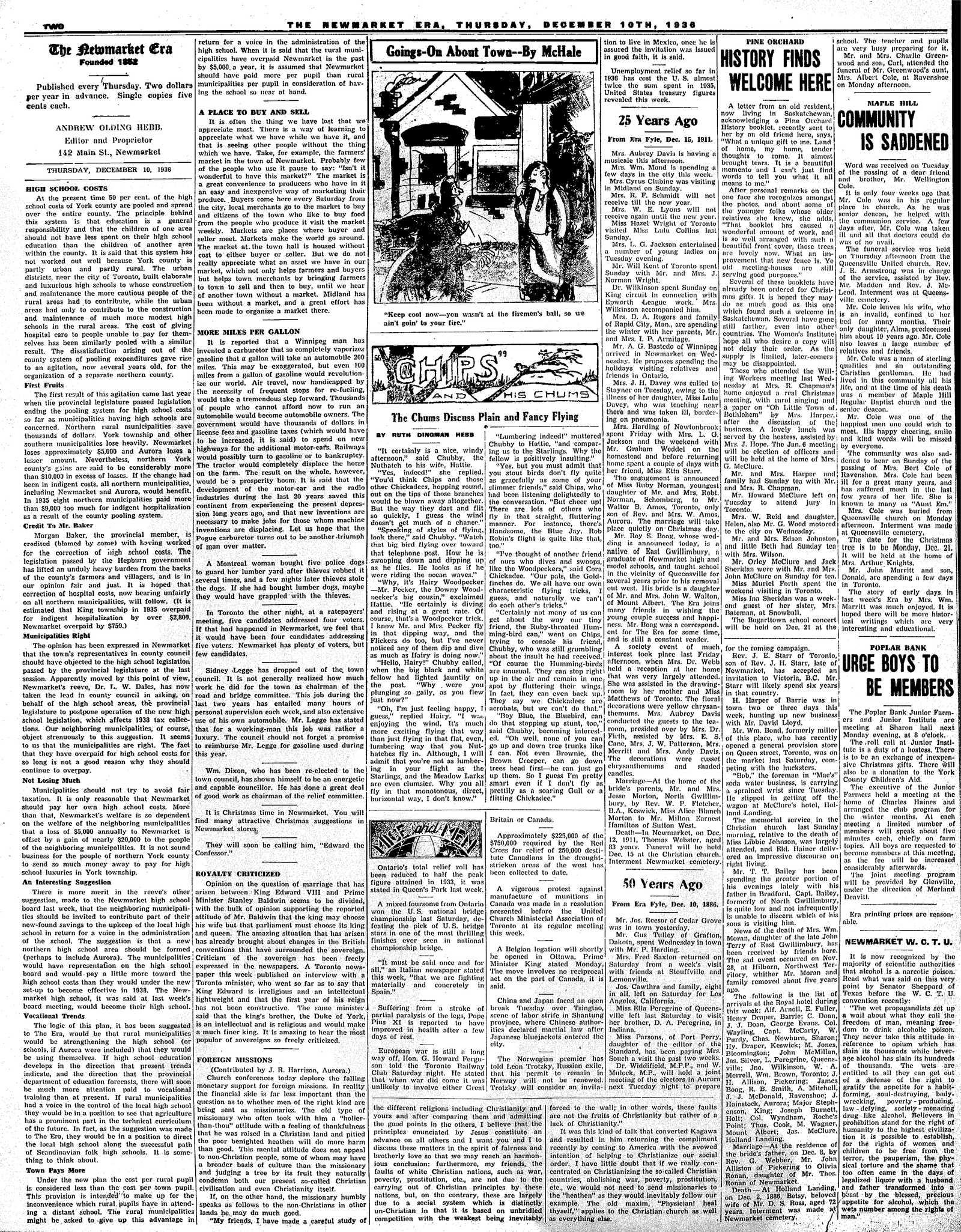 Newmarket Era (Newmarket, ON1861), December 10, 1936