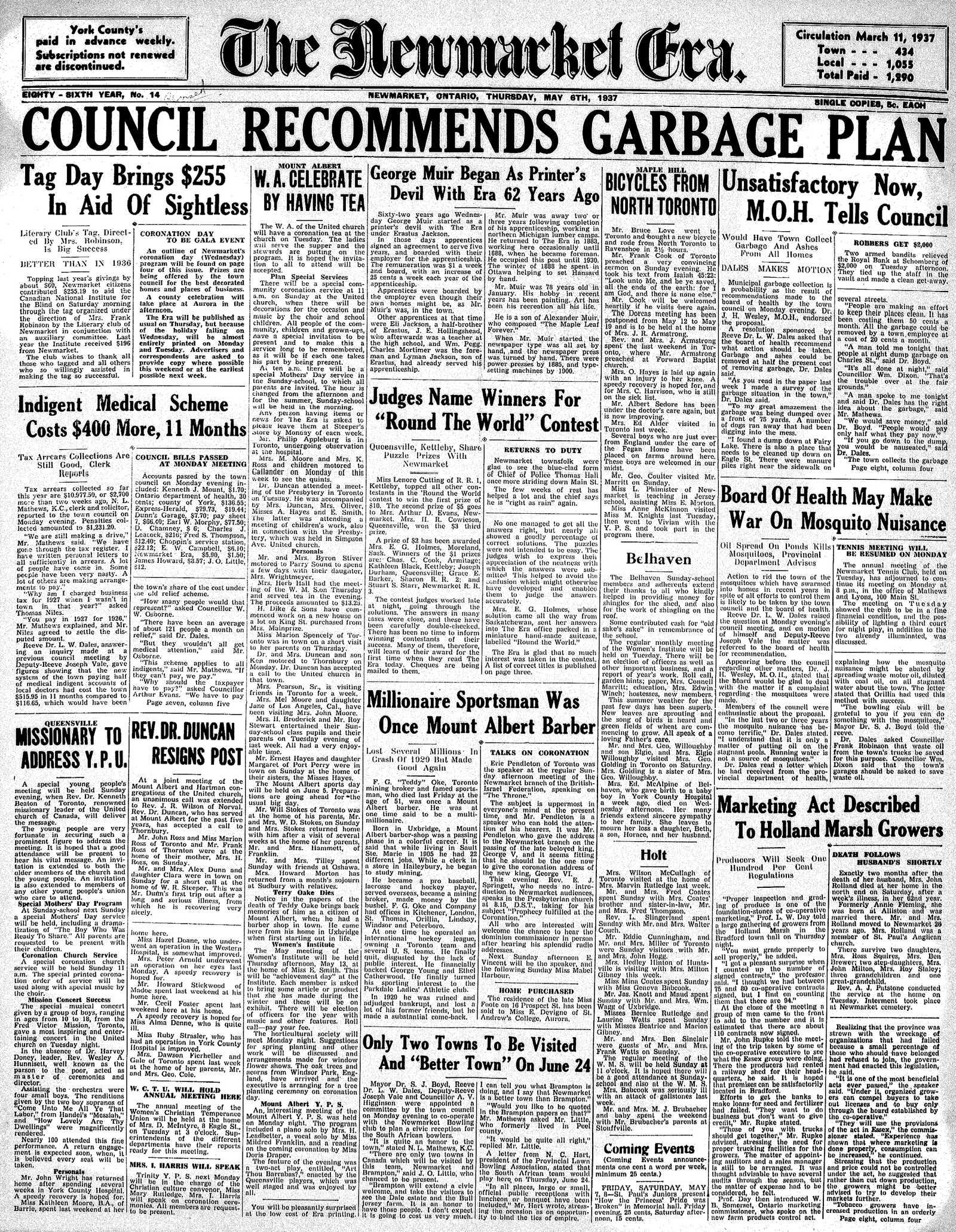 Newmarket Era (Newmarket, ON1861), May 6, 1937