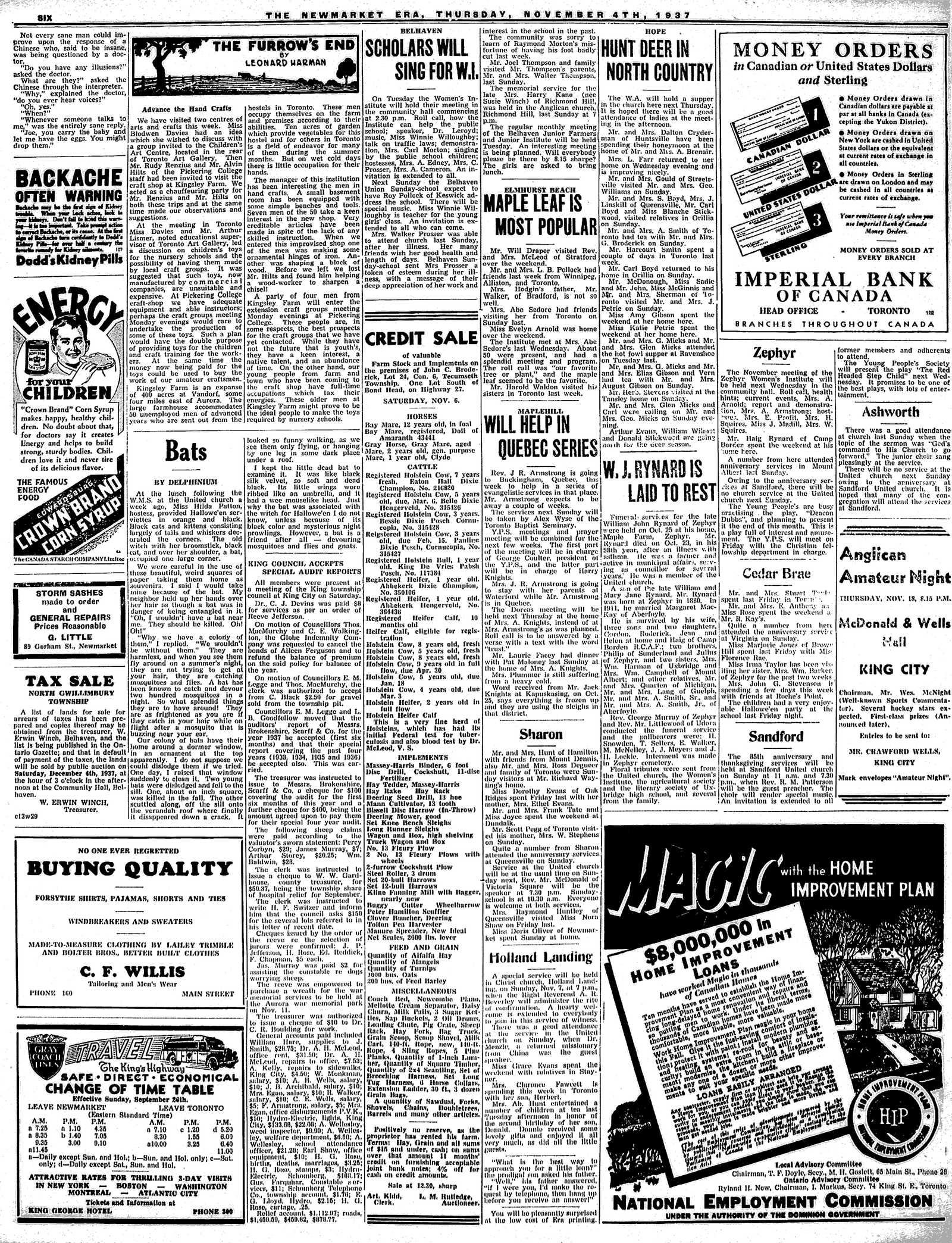 Newmarket Era (Newmarket, ON1861), November 4, 1937