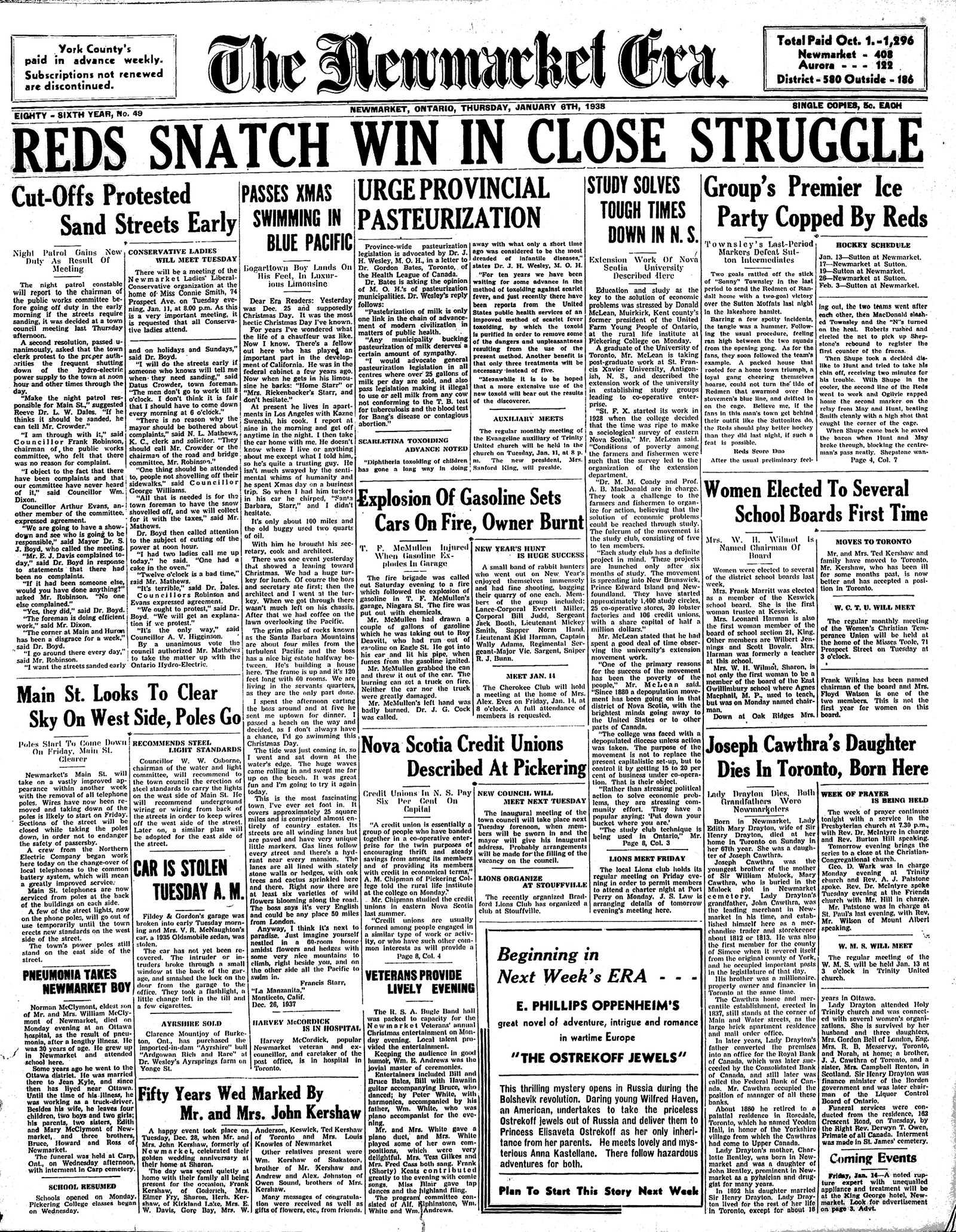Newmarket Era (Newmarket, ON1861), January 6, 1938