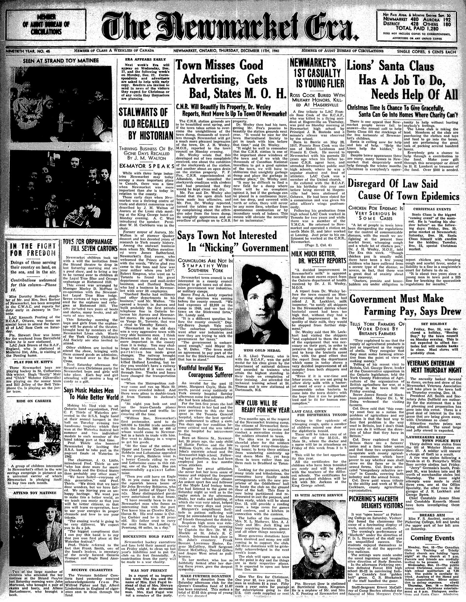 Newmarket Era (Newmarket, ON1861), December 11, 1941