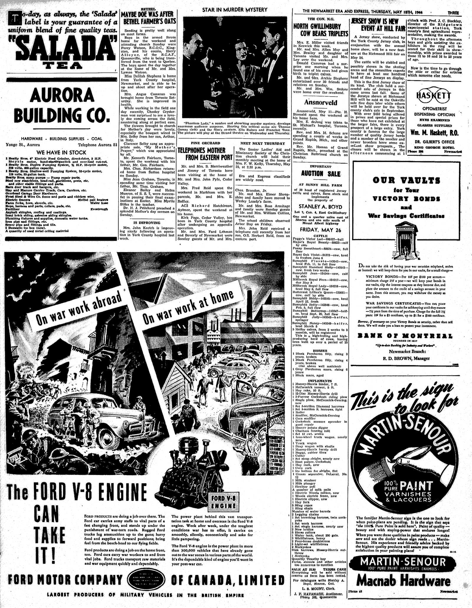 Newmarket Era and Express (Newmarket, ON), May 18, 1944