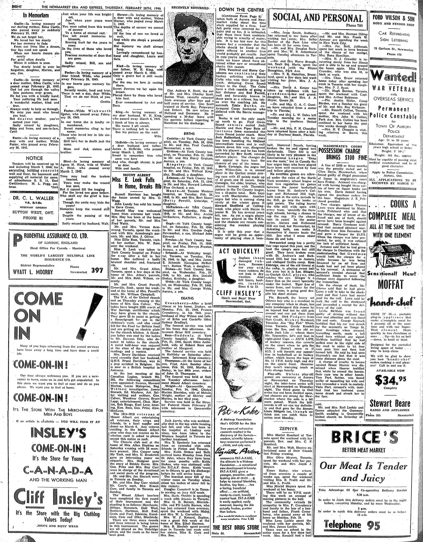 Newmarket Era and Express (Newmarket, ON), February 28, 1946