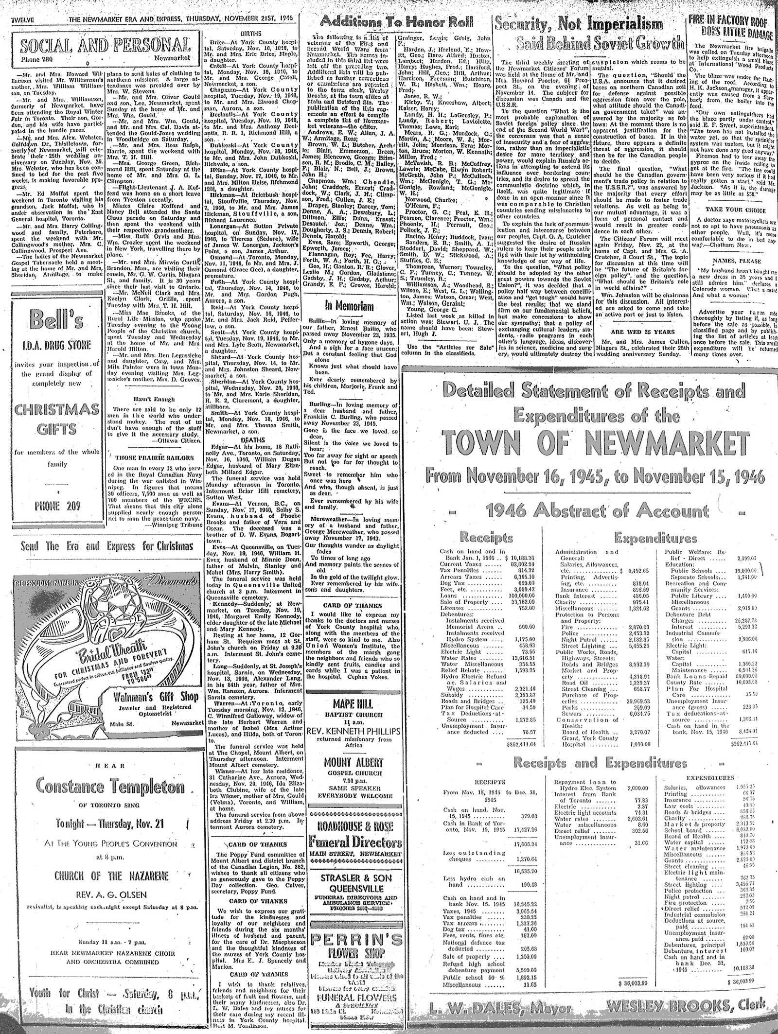 Newmarket Era and Express (Newmarket, ON), November 21, 1946