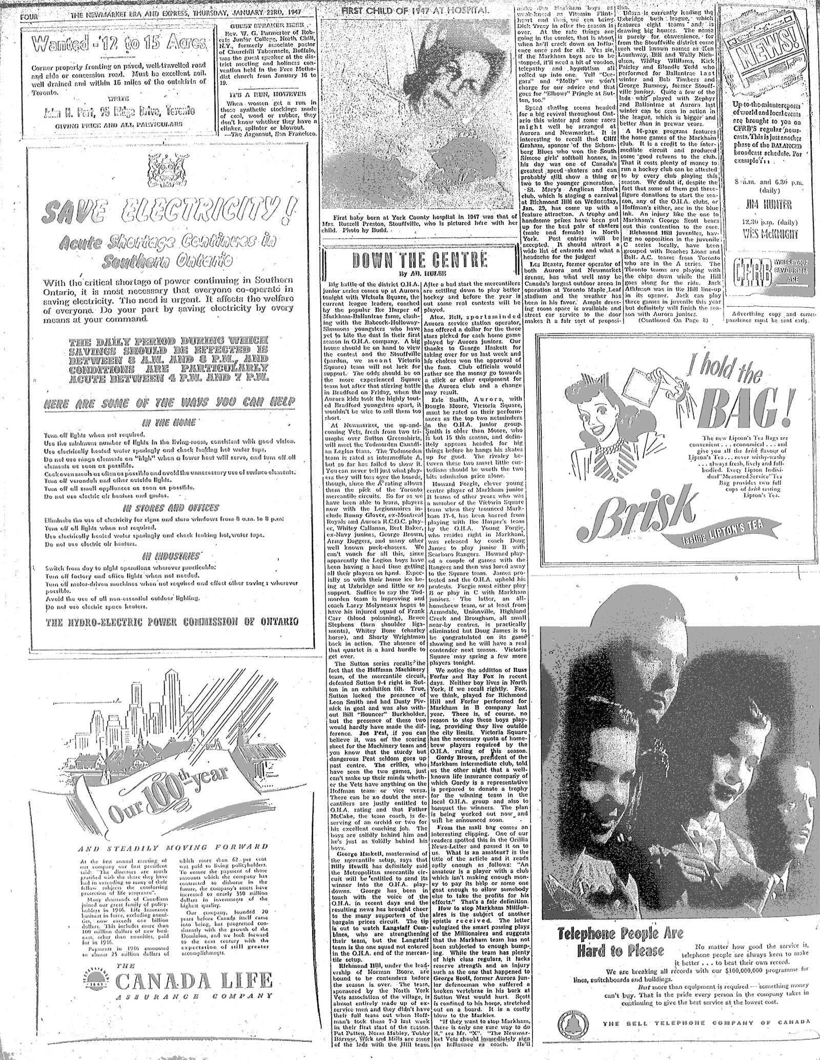 Newmarket Era and Express (Newmarket, ON), January 23, 1947