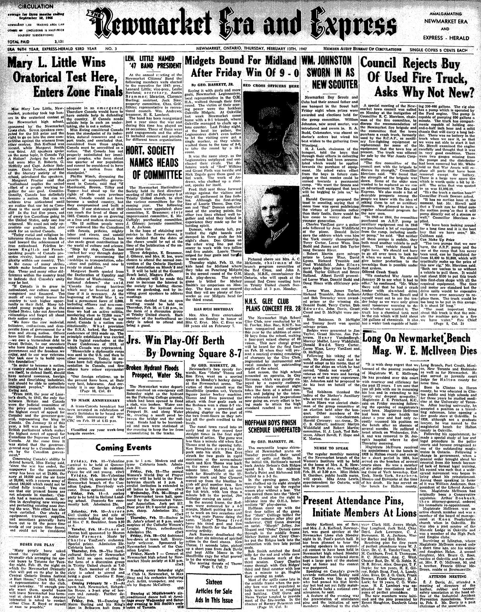 Newmarket Era and Express (Newmarket, ON), February 13, 1947