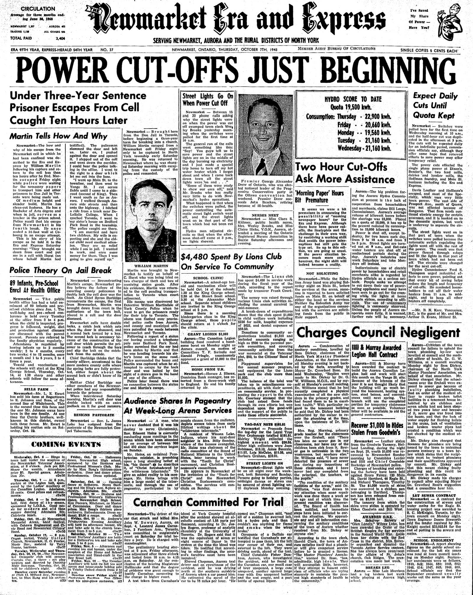 Newmarket Era and Express (Newmarket, ON), October 7, 1948