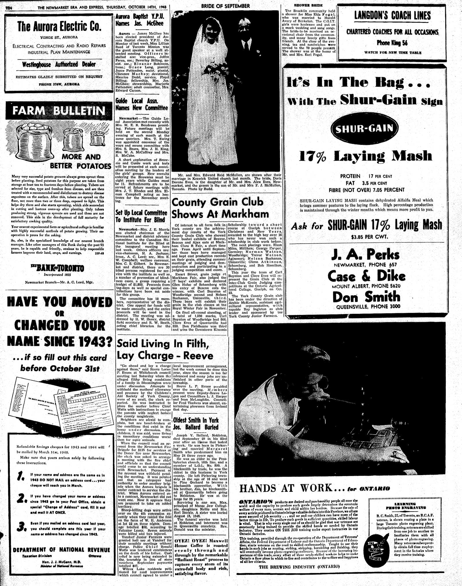Newmarket Era and Express (Newmarket, ON), October 14, 1948