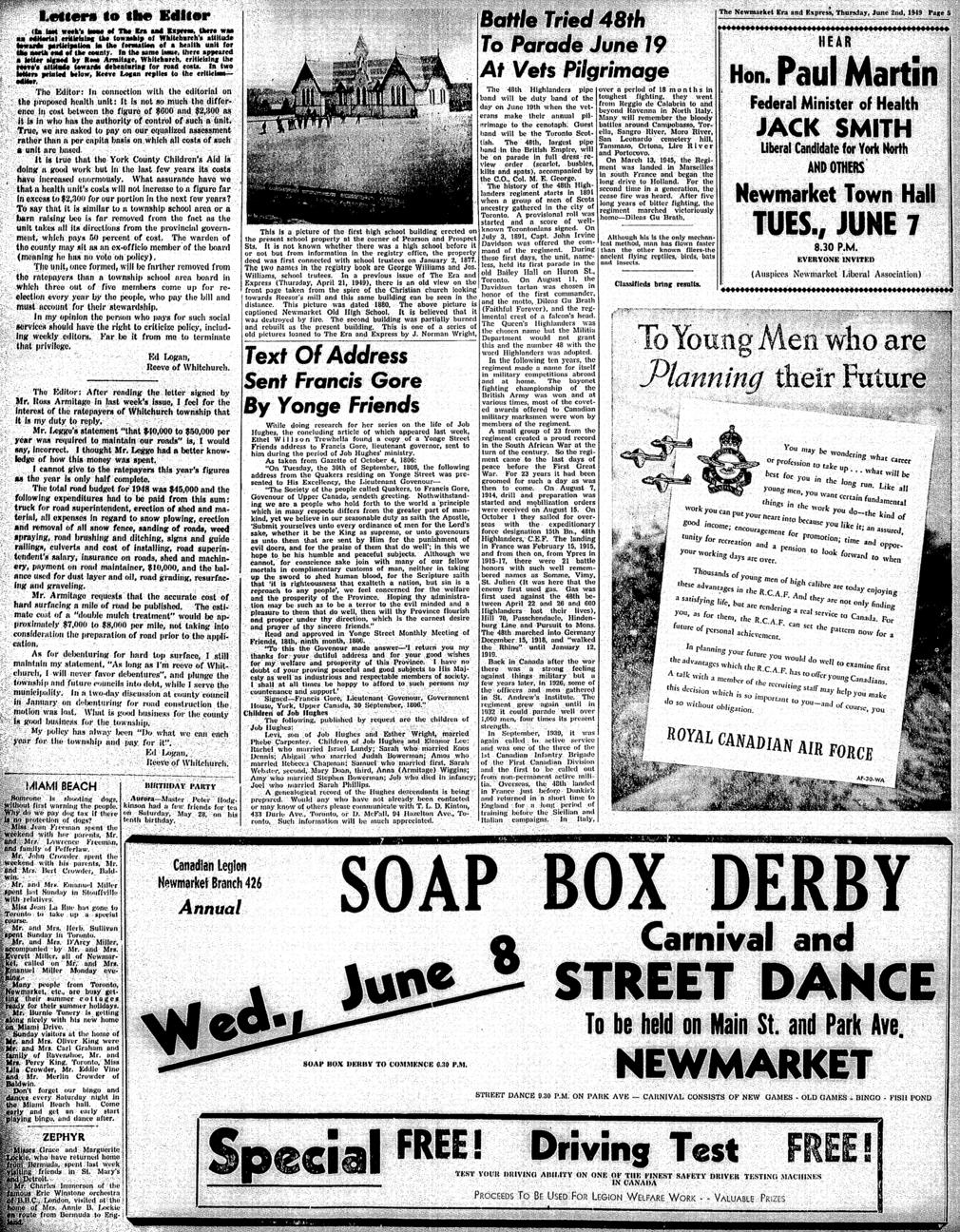 Newmarket Era and Express (Newmarket, ON), June 2, 1949