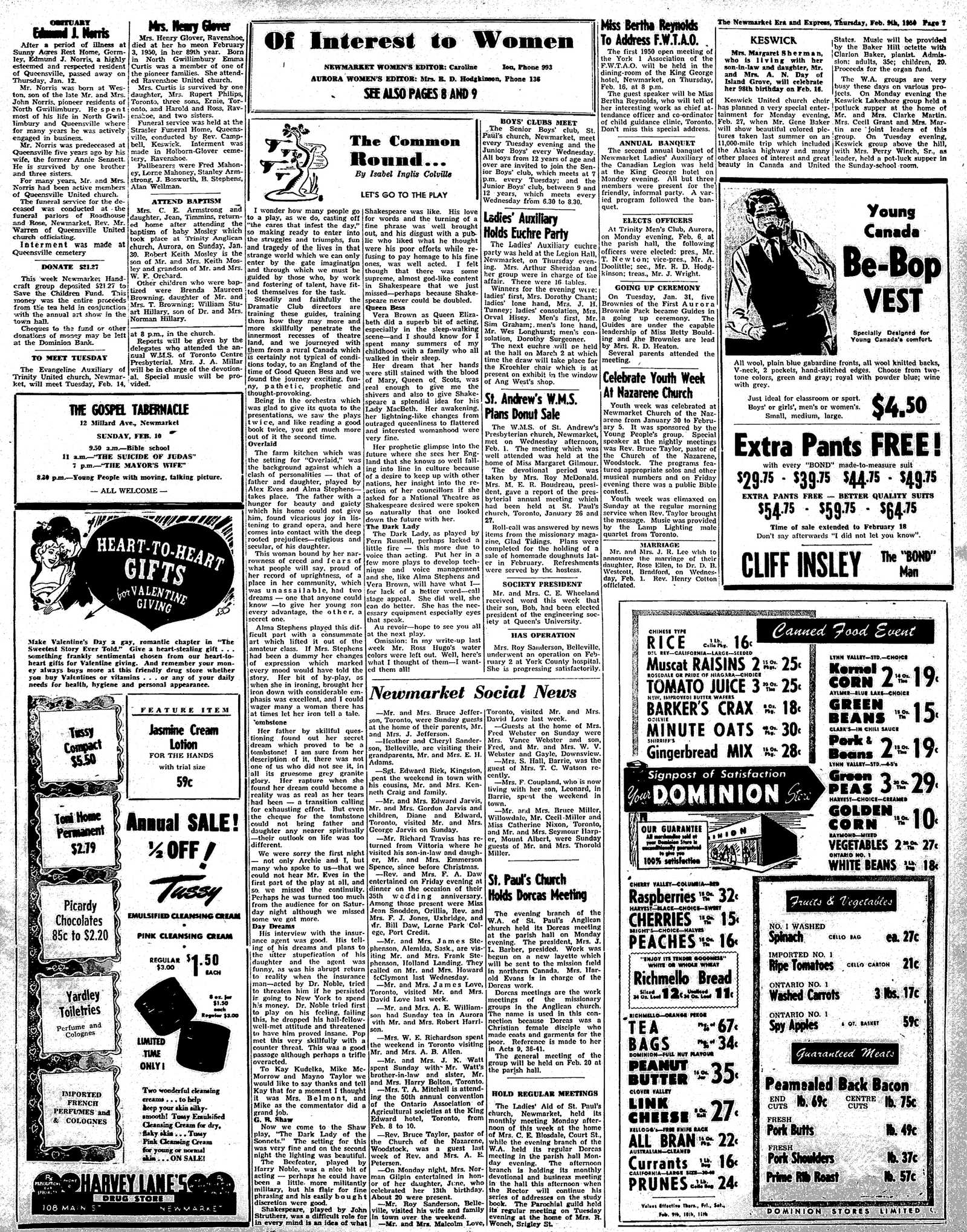 Newmarket Era and Express (Newmarket, ON), February 9, 1950