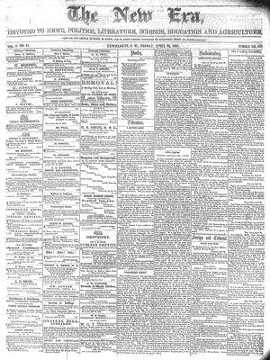 New Era (Newmarket, ON), April 26, 1861