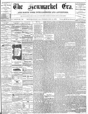 Newmarket Era (Newmarket, ON1861), December 3, 1875