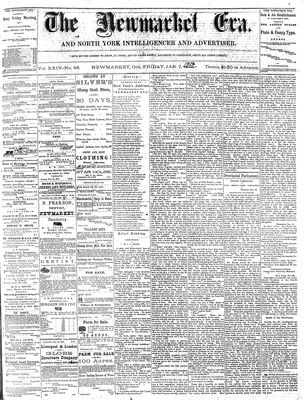 Newmarket Era (Newmarket, ON1861), January 7, 1876
