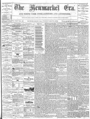 Newmarket Era (Newmarket, ON1861), May 5, 1876