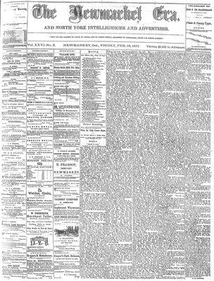 Newmarket Era (Newmarket, ON1861), February 16, 1877