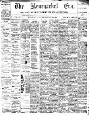 Newmarket Era (Newmarket, ON1861), November 28, 1879