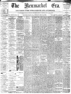 Newmarket Era (Newmarket, ON1861), December 19, 1879
