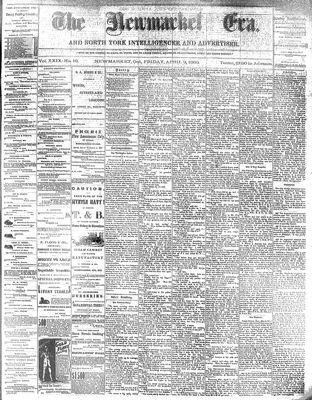 Newmarket Era (Newmarket, ON1861), April 9, 1880