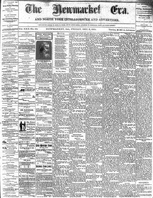 Newmarket Era (Newmarket, ON1861), December 2, 1881
