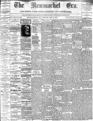 Newmarket Era (Newmarket, ON1861), December 9, 1881