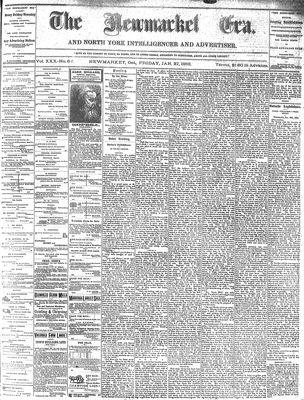 Newmarket Era (Newmarket, ON1861), January 27, 1882