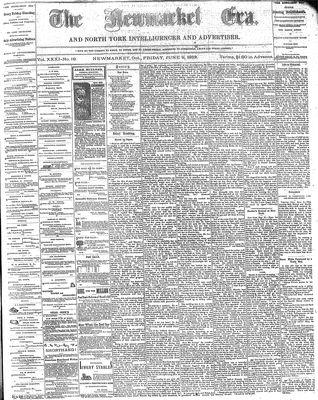 Newmarket Era (Newmarket, ON1861), June 9, 1882