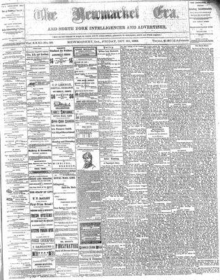 Newmarket Era (Newmarket, ON1861), October 20, 1882
