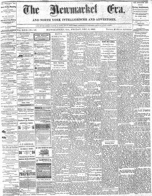 Newmarket Era (Newmarket, ON1861), December 8, 1882