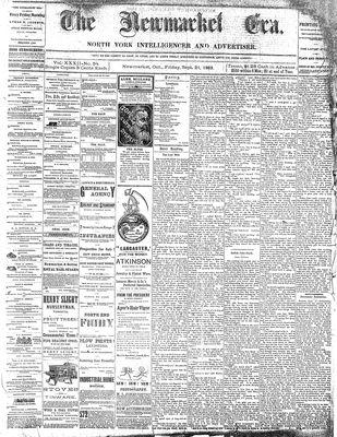Newmarket Era (Newmarket, ON1861), September 21, 1883